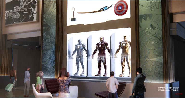 Marvel Hotel concept art   © Marvel/Disney