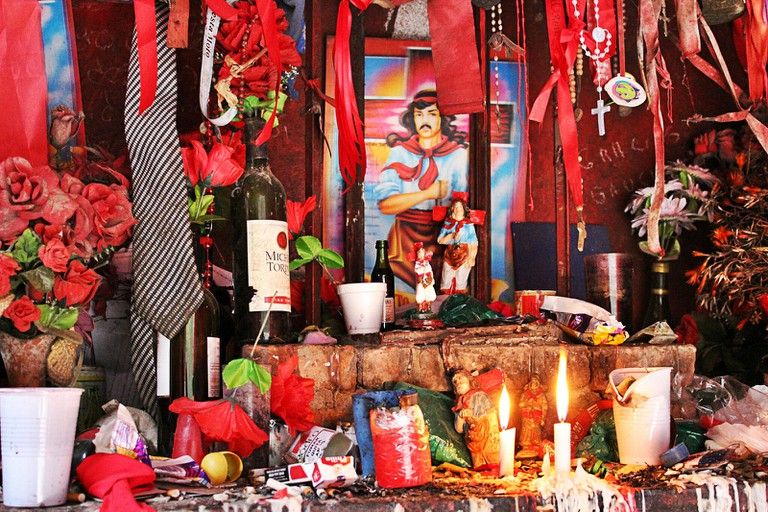 A shrine to the cowboy saint Gauchito Gil