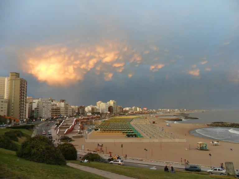 The seaside city of Mar Del Plata