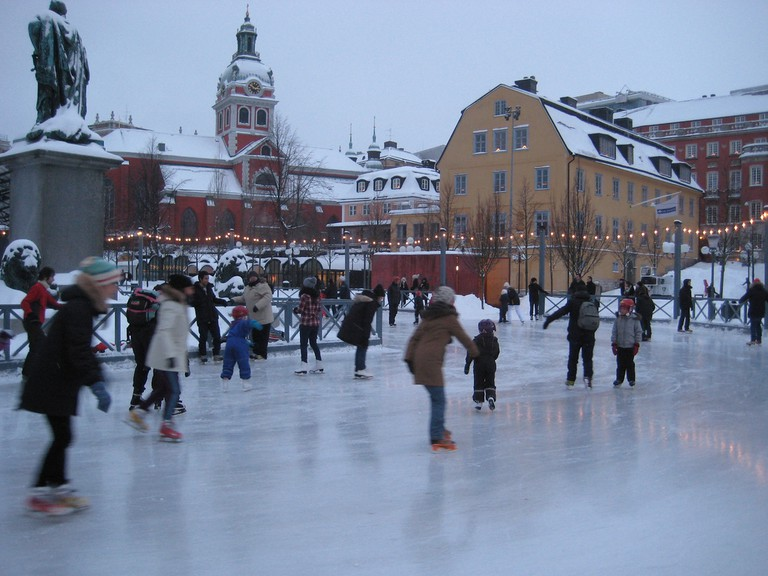 Ice skating in the heart of the city