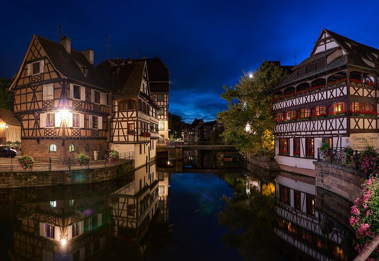 La Petit France at night / Strasbourg, France
