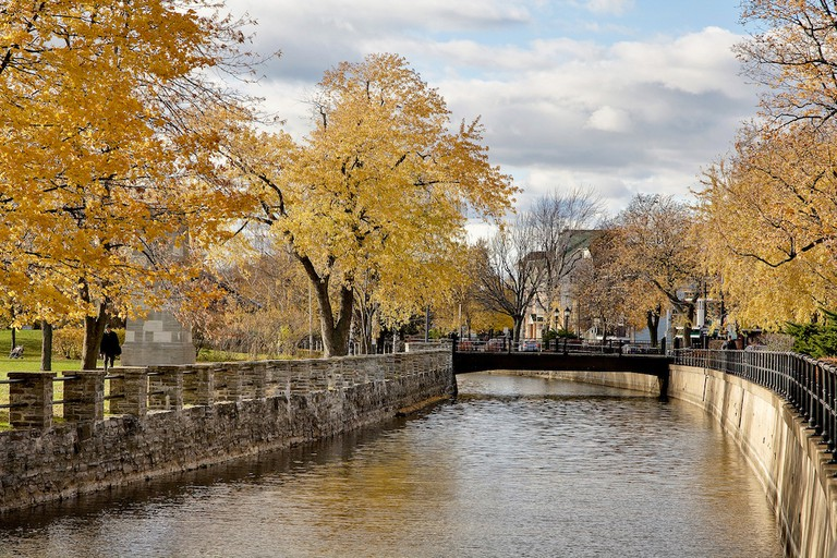 The Lachine Canal in autumn