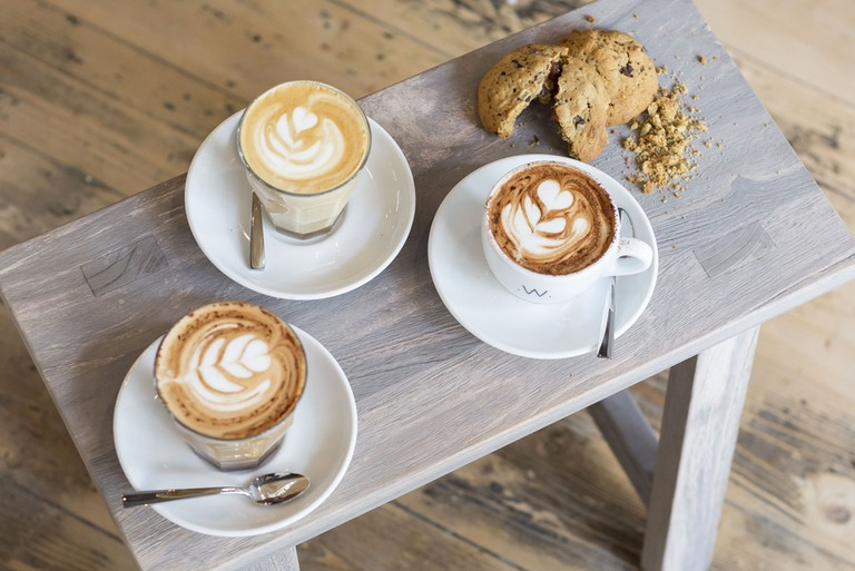 Alexander and Cheeru also make latte art with 'regular' single-origin coffee from Guatemala | courtesy of Texas Coffee