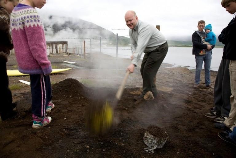 Sigurður Rafn Hilmarsson in action