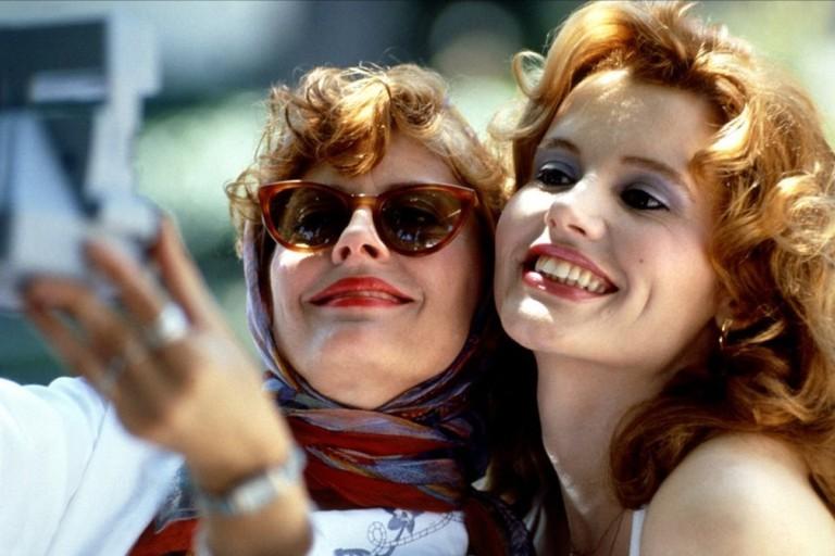 Susan Sarandon as Louise and Geena Davis as Thelma in Thelma & Louise (1991)