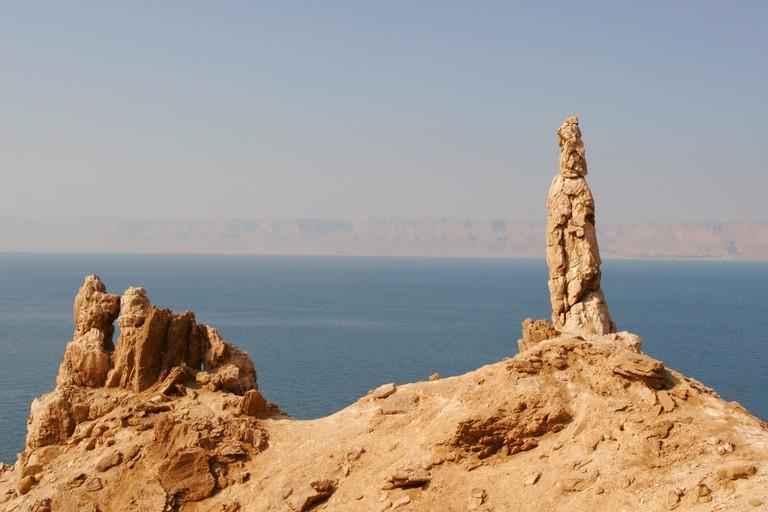 Salt Pillar of Lot's Wife, Dead Sea