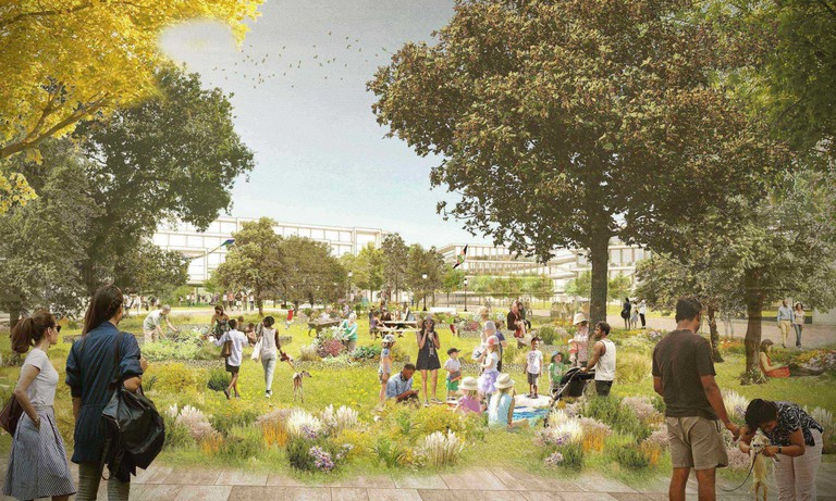 Willow Campus rendering, O Brien Park