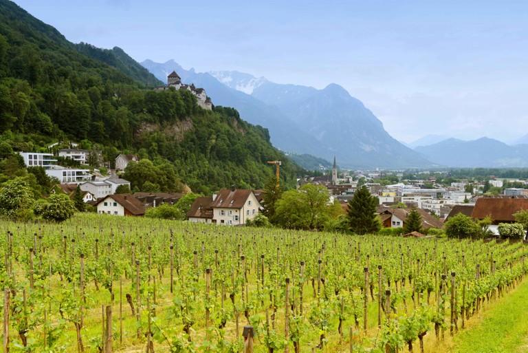Cityscape of Vaduz, Liechtenstein