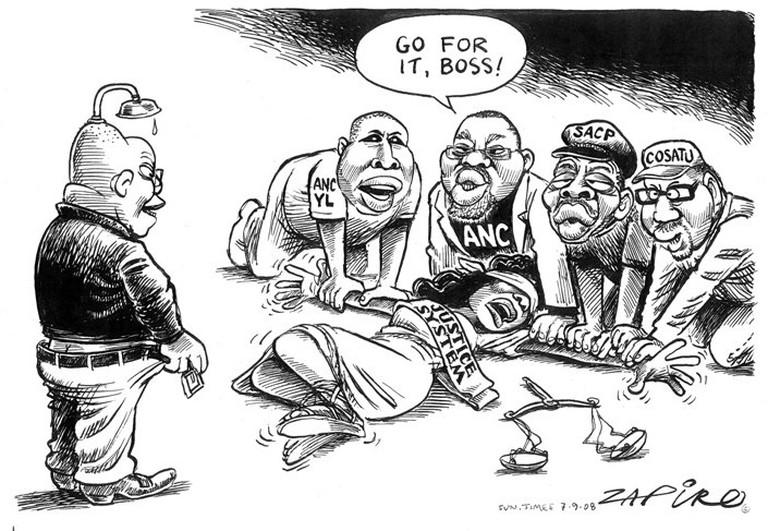 Zapiro's 'Lady Justice'