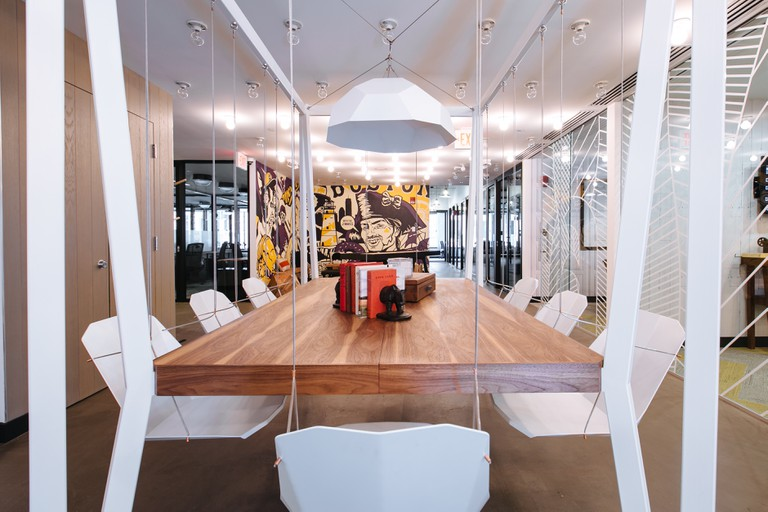 Boston WeWork South Station Conference Room | Courtesy of WeWork