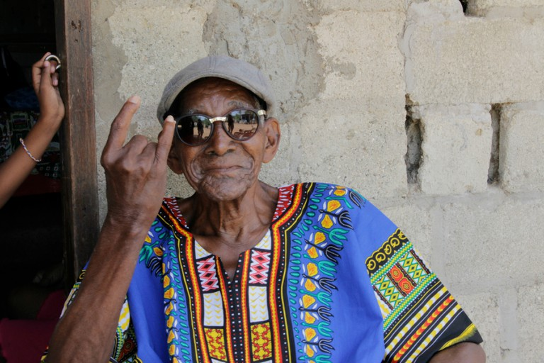 95-years-old and releasing your first solo album = rock star status!