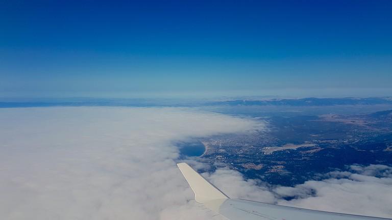 Flying into Monterey