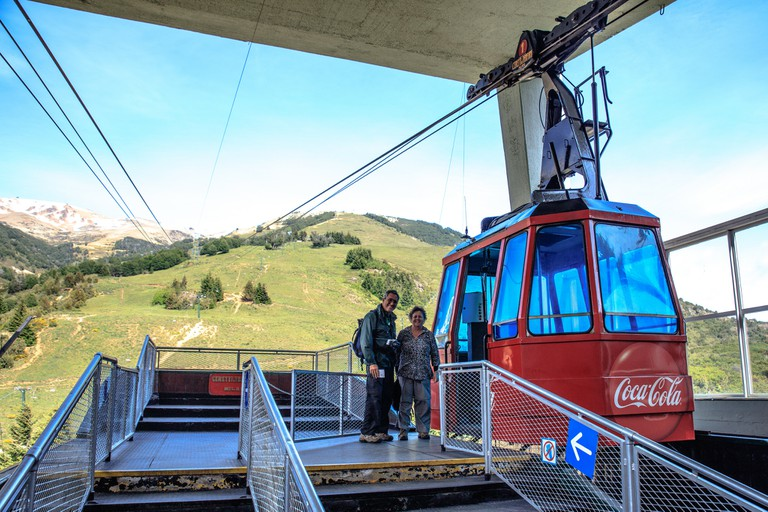 Take the cable car; it's fun!