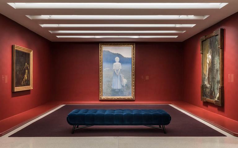 Installation View: Mystical Symbolism: The Salon de la Rose+Croix in Paris,1892–1897 Solomon R. Guggenheim Museum, New York, June 30–October 4, 2017 Photo: David Heald © Solomon R. Guggenheim Foundation, 2017