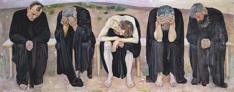 Ferdinand Hodler, The Disappointed Souls (Les âmes déçues), 1892. Kuntsmuseum Bern, Staat Bern. Photo: Courtesy Kuntsmuseum Bern, Staat Bern.