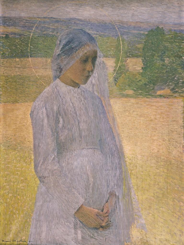 Henri Martin, Young Saint (Jeune sainte), 1891. Musée des Beaux-Arts, Brest, France. | Photo: © Musée des Beaux-Arts, Brest, France.