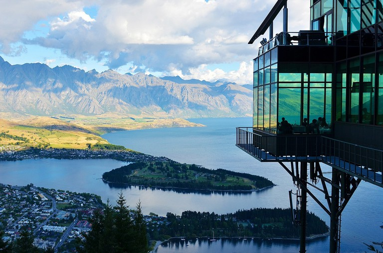 View of Queenstown and Lake Wakatipu from Skyline Gondola