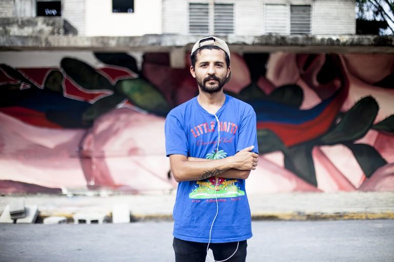 The Argentine muralist and painter Nicolas Romero, AKA Ever