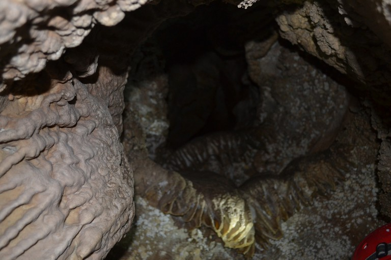 The weird and wonderful rock formations in the Caverna de las Brujas