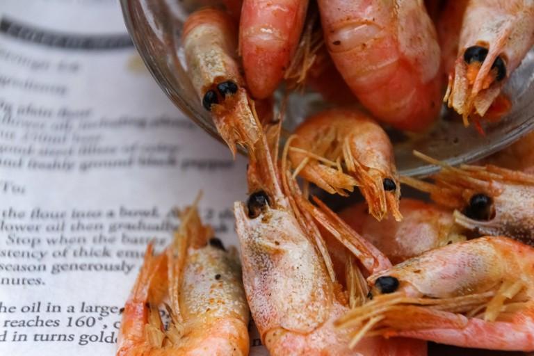 Prawns from the Oyster Shack @ Bigbury
