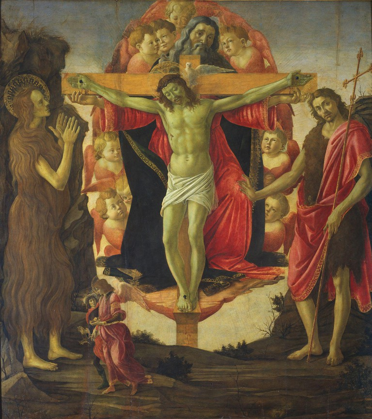The Trinity with Saints, Botticelli, | The Samuel Courtauld Trust, The Courtauld Gallery, London