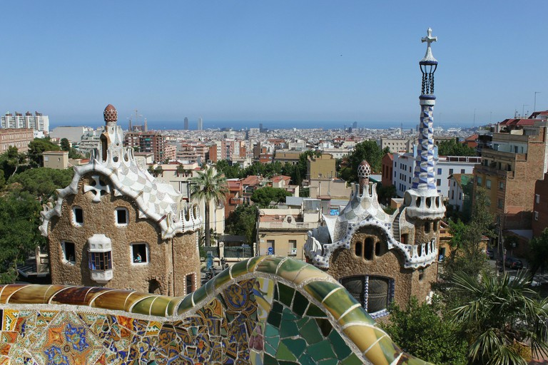 Parc Guell in Barcelona, designed by Antoni Gaudí