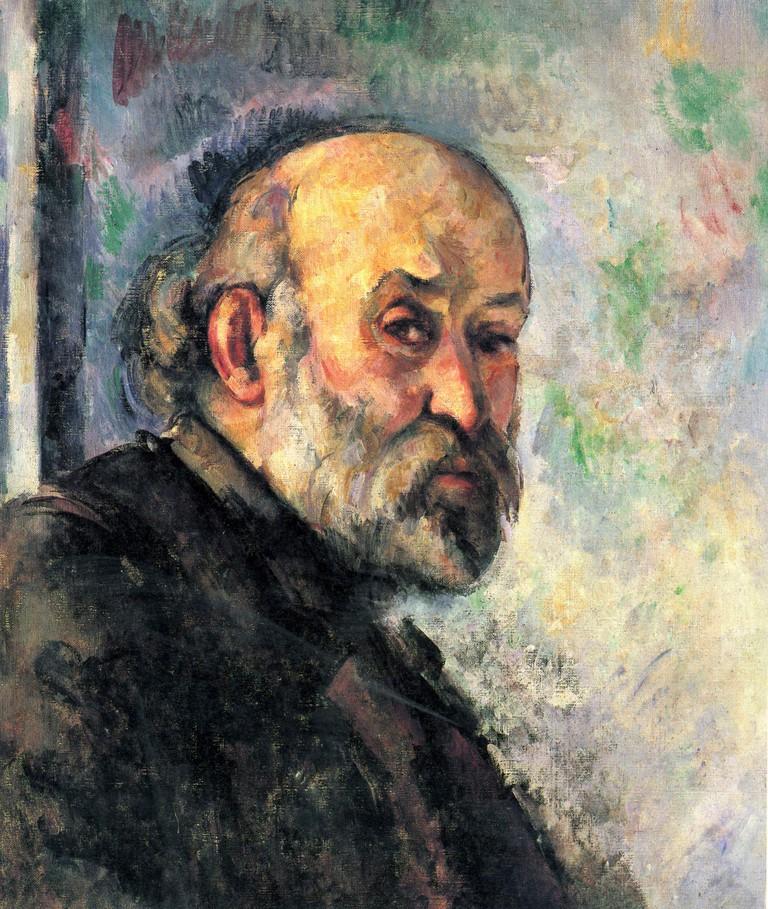 A self-portrait of Paul Cézanne