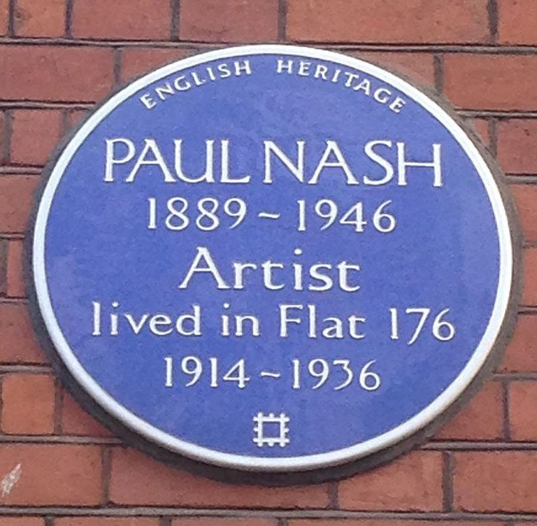 Paul Nash Plaque in Kings Cross