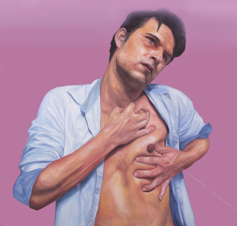 "Romero's ""Reinterpretation of the lactation of Saint Dominic"""