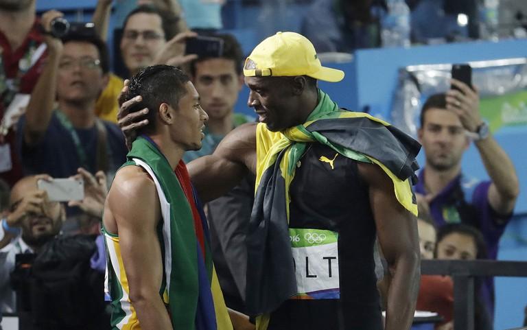 Wayde van Niekerk and Usain Bolt