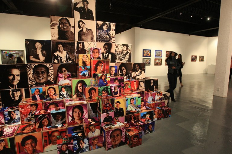 © Alex Cruz/Epa/REX/Shutterstock 'Mirame Lima' ('look at Me Lima') of Jaime Travezan and Morgana Vargas Llosa Presented at the National Museum of Popular Cultures in Mexico City