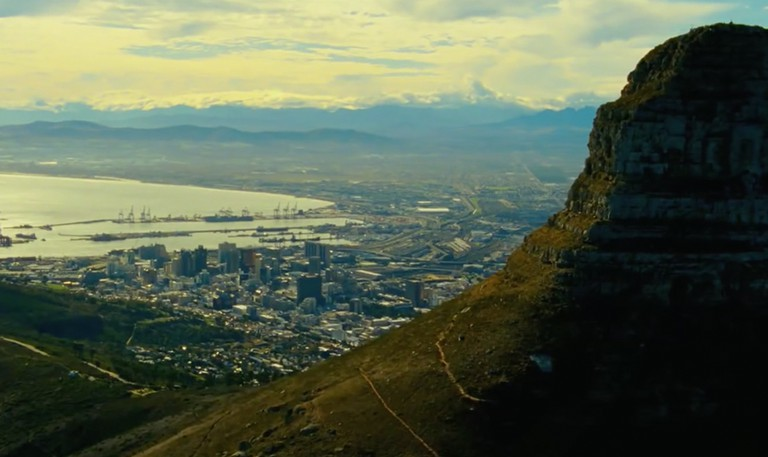 Lion's Head and the Cape Town CBD in Safe House