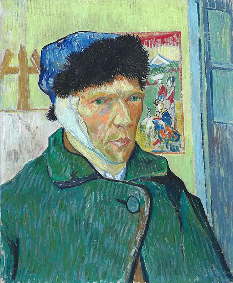 'Self-Portrait with Bandaged Ear', Vincent van Gogh, 1889