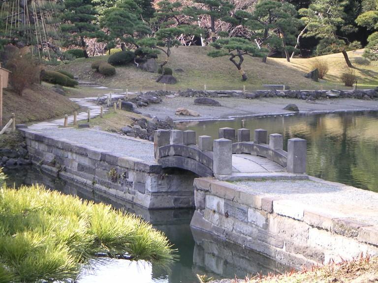 Kyu Shiba Rikyu Onshi Teien, former imperial garden of the Tokugawa Clan