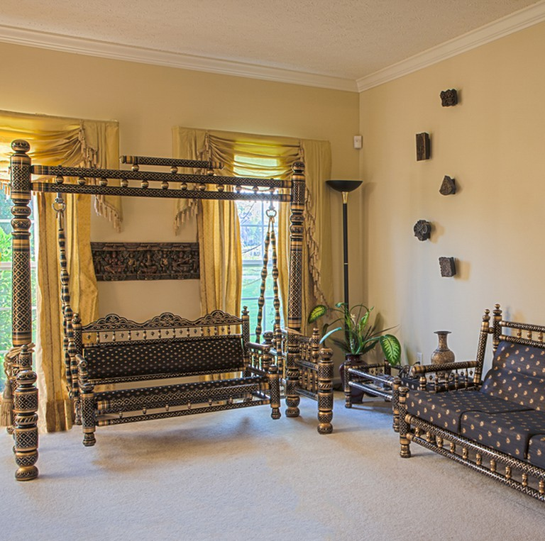 A Sankheda jhula sits pretty in a living room