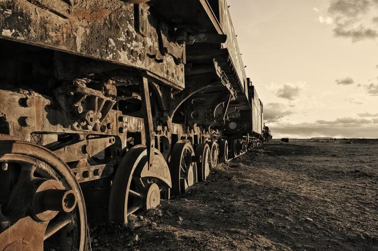 An old rusty train