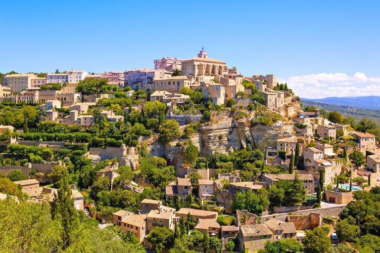 The medieval town of Gordes sits high on a hill