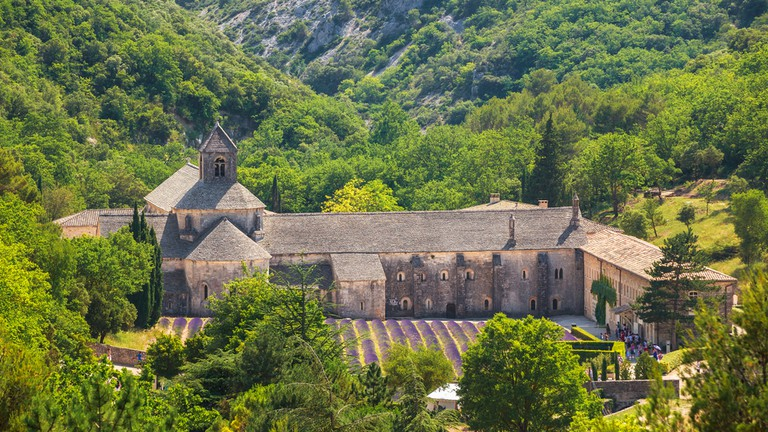 The Sénanque Abbey from the hills above