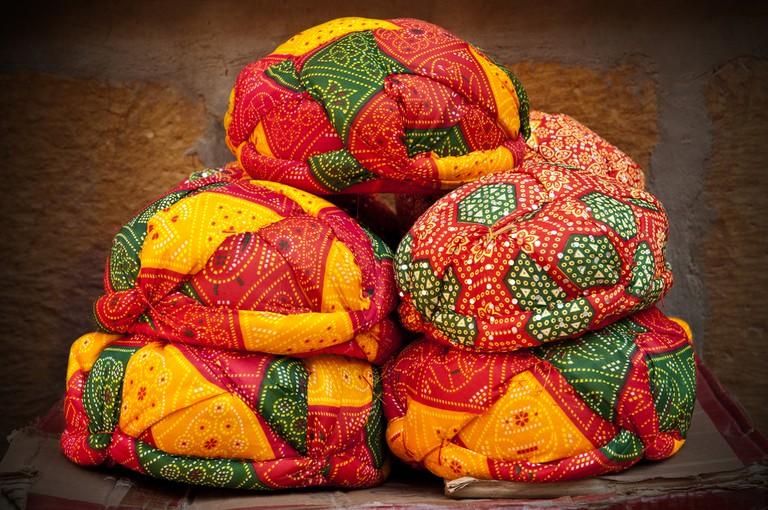 A typical Rajasthani turban