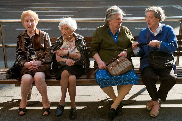 Spanish grandmas chatting