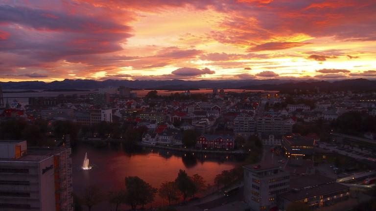Stavanger at sunset