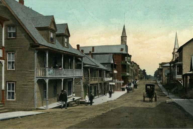Rue Notre-Dame in Thetford Mines, around 1904