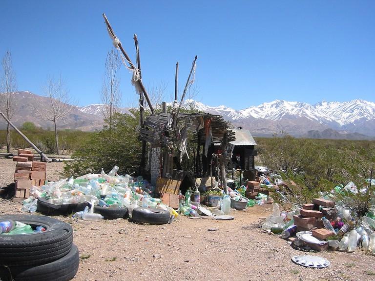 Over 30 makeshift altars have arisen around the chapel of La Difunta Correa