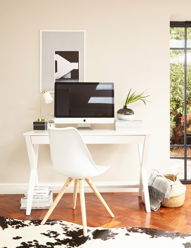 Trestle Matt White Desk, £249, Danetti