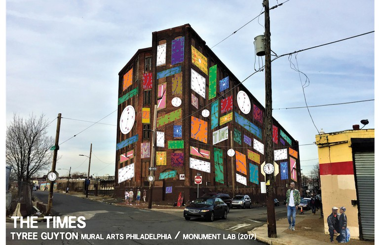 """The Times,"" the installation that Tyree is currently working on in Philadelphia 