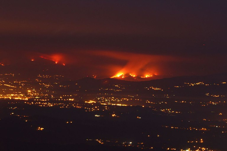 Forest fire in Monção, Portugal