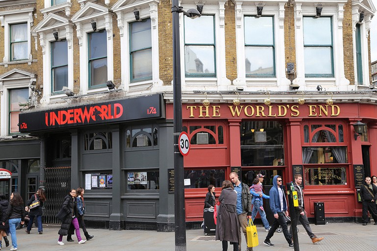 The entrances to Underworld and The World's End lie side-by-side