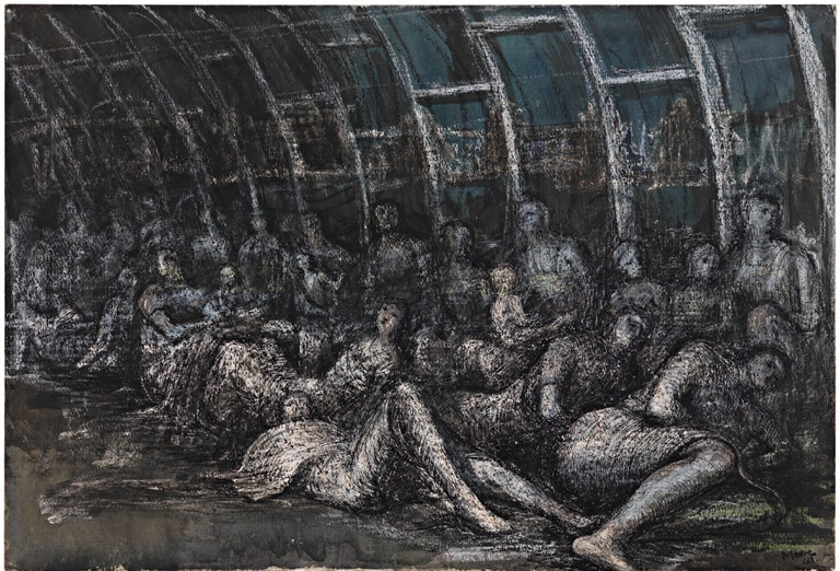 Henry Moore, Shelterers in the Tube, 1941, Tate