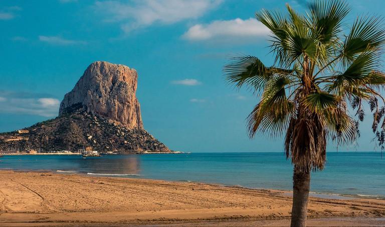 A beach in Valencia