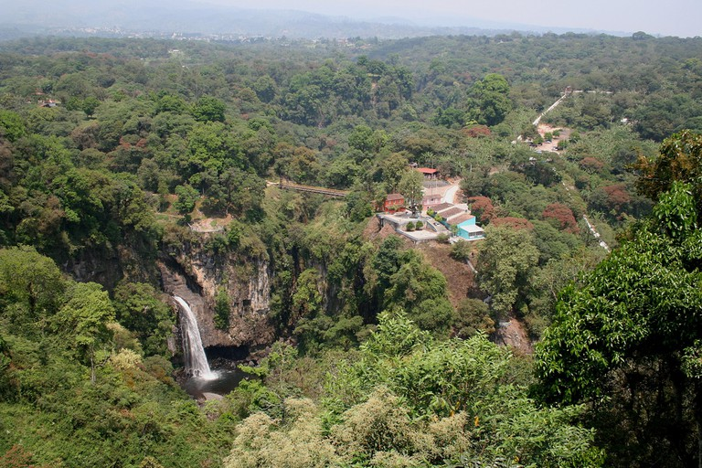 View of the Texolo Waterfall